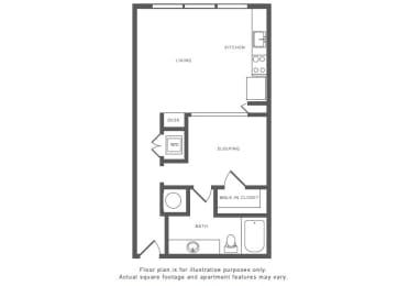 Floor Plan  A4 Floor Plan at Windsor by the Galleria, Dallas, 75240