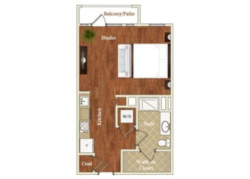 Floor Plan  Floor Plan at St. Marys Square Apartments, Raleigh, North Carolina