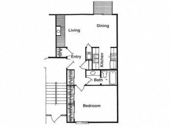 Floor Plan  1 Bedroom Floorplan