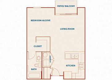 ABQ Uptown Apartments - A001 - Studio and 1 bath