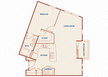 ABQ Uptown Apartments - A12 - 1 bedroom and 1 bath
