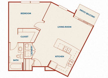 ABQ Uptown Apartments - A5 - 1 bedroom and 1 bath