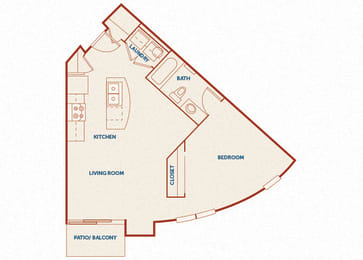 ABQ Uptown Apartments - A3 - 1 bedroom and 1 bath