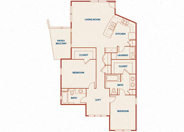 ABQ Uptown Apartments - B12 - 2 bedroom and 2 bath