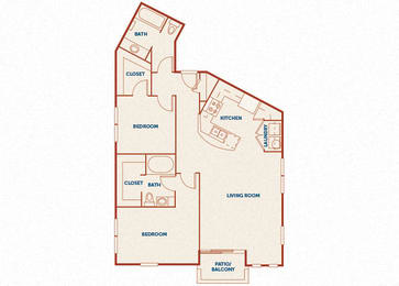 ABQ Uptown Apartments - B11 (1) - 2 bedroom and 2 bath