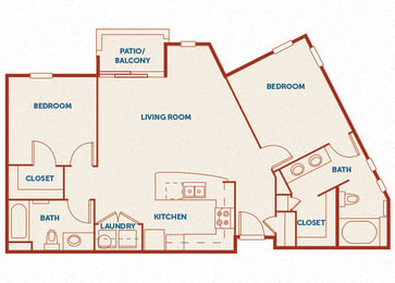 ABQ Uptown Apartments - B6 - 2 bedroom and 2 bath