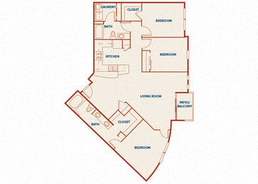 ABQ Uptown Apartments - C1 - 3 bedroom and 2 bath