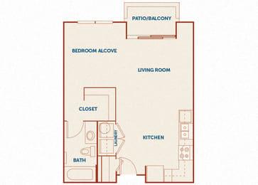 ABQ Uptown Apartments - A00 - Studio and 1 bath