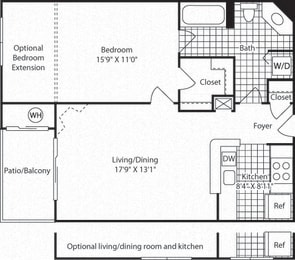 A4A Floor Plan at Westerly at Worldgate, Herndon, 20170