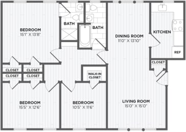 3 bedroom rentals chevy chase maryland