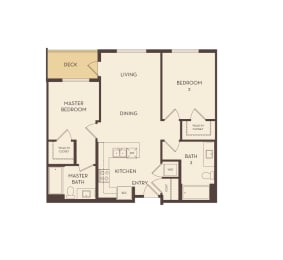 Twin Oaks floor plan at Marc San Marcos Apartments
