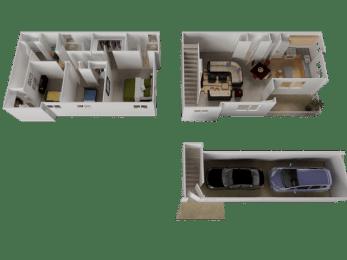 Edgefield Floor Plan at Westview Heights Apartments, Portland, OR