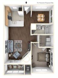 Floor Plan 1X1C