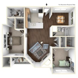 Floor Plan 2X2A