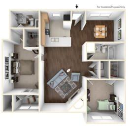 Floor Plan 2X2C