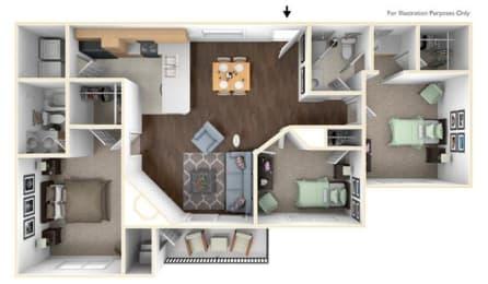 Floor Plan 3X2A