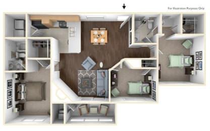 Floor Plan 3X2B
