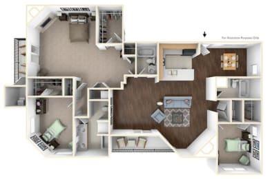 Floor Plan 3X3C