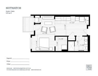 Nuthatch Floor Plan at Birdtown Flats, Robbinsdale, MN