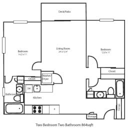 Floor Plan Two Bedroom End