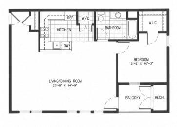 Floor Plan NW Unit Type D