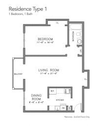 Floor Plan Sutton Hill Type 1