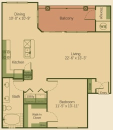 1D Floor Plan at Muir Lake, Texas, 78613