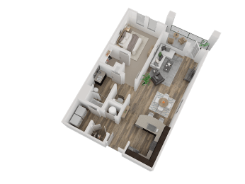 Westminister Apts For Rent, CO 80020 l Caliber at Hyland Village l1x1 Floorplan