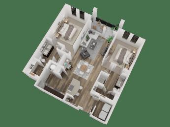 Westminister Apts For Rent, CO 80020 l Caliber at Hyland Village l 2x2L Floorplan