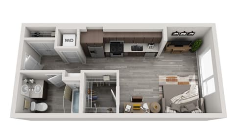 Baseline 158 2D floor plan A1 studio