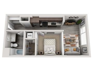 Baseline 158 2D floor plan A2 1 bedroom