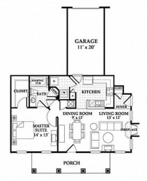 Floor plan at Northlake Park, Florida,32827