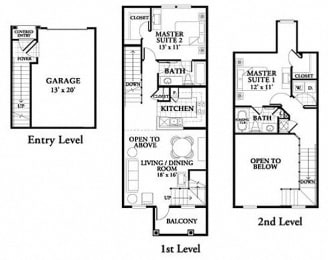 Floor plan at Northlake Park, Orlando, FL