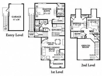 Floor plan at Northlake Park, Orlando, 32827