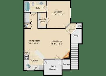 Barbados Floor Plan at Fourteen01, Orlando