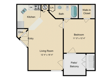 Nassau Floor Plan at Fourteen01, Orlando, 32811