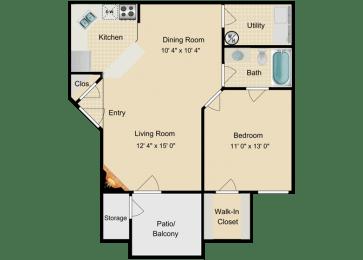 St.Kitts Floor Plan at Fourteen01, Orlando, Florida