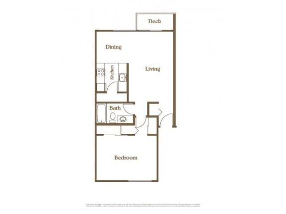 Floor Plan  1 Bed 1Bath Classic at Landing at Angle Lake Apartments, SeaTac, WA