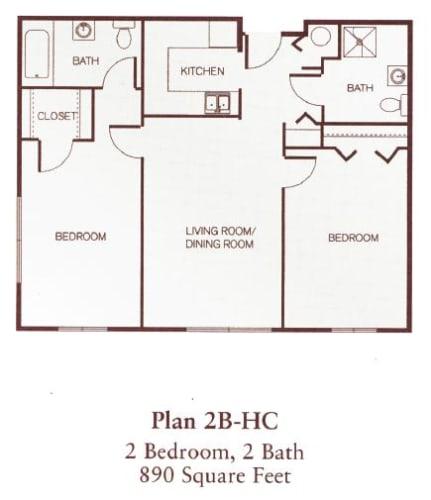 Floor Plan  Two Bedroom- Accessible