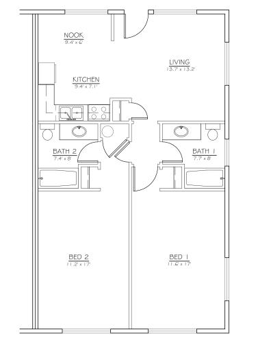 Floor Plan  Hillside Creek unit Floorplan