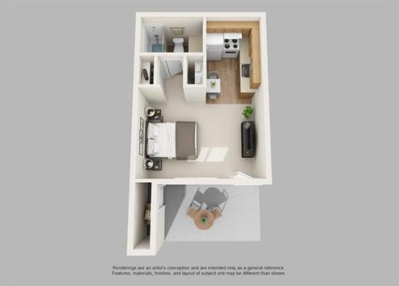 Floor Plan  Studio at Regency Square Apartments in Yuma, AZ