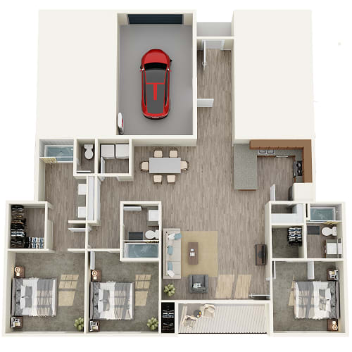 Floor Plan  1 bedroom 1 bathroom floor plan image in Phoenix AZ
