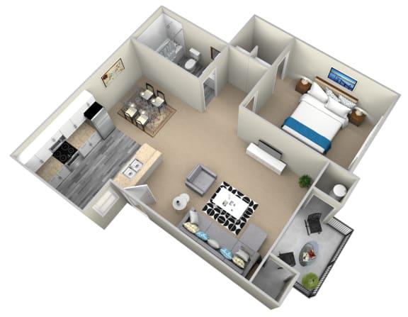 Floor Plan  1 Bedroom Apartments in Highland, CA