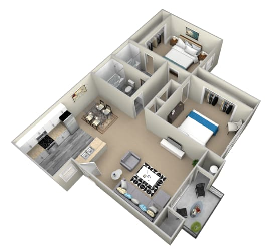 Floor Plan  2 Bedroom Apartments in Highland, CA