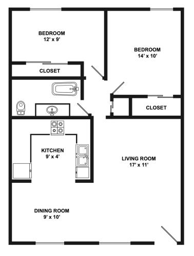 Floor Plan  Davis Street   1x1