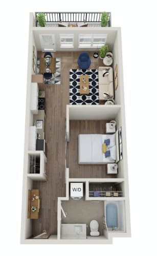 Floor Plan  The Morgan PDX A