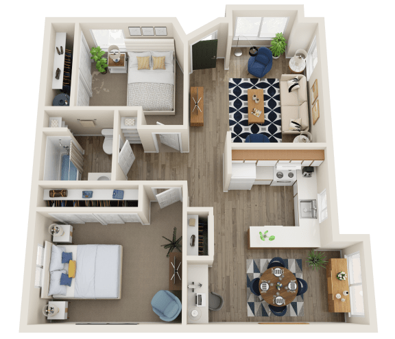 Floor Plan  The Montavilla | Two Bedroom ADA
