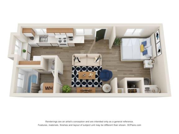 Floor Plan  The Montavilla | Studio