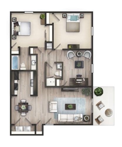 Floor Plan  3 Bedroom Flat