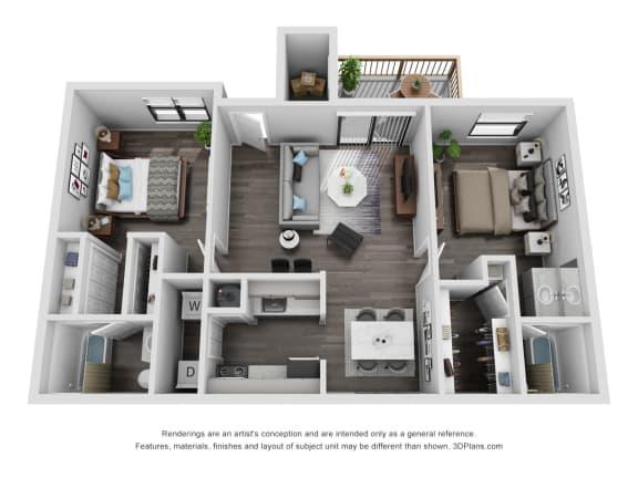 Floor Plan  Avisa Lakes Tara 2 bedroom apartment for rent